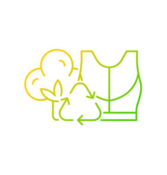 Sustainable activewear gradient linear icon vector