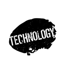 Technology rubber stamp vector