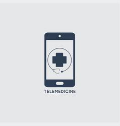 telemedicine icon logo doctor online concept sign vector image