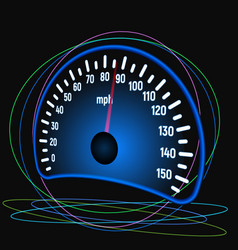 The speedometer of the car vector