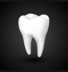 tooth on a black background template design vector image
