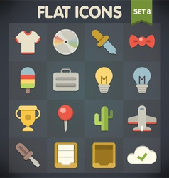 Universal Flat Icons for Applications Set 8 vector image
