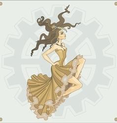 Victorian steampunk girl vector image