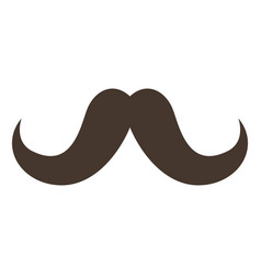 vintage hipster mustache vector image