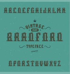 Vintage label typeface vector