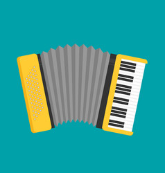 accordion icon flat vector image