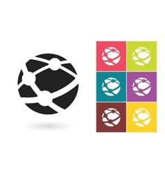 Network icon or social network symbol vector image vector image