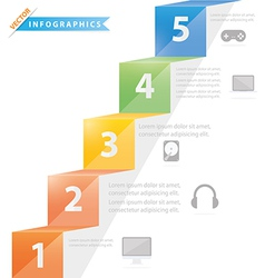 Process step template vector image vector image