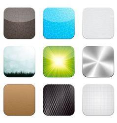 app icon set vector image vector image