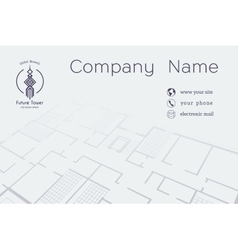 Architectural Business Card vector image vector image