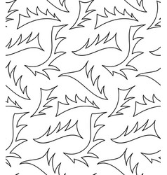floral background of drawn lines vector image