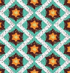 Grunge colorful halloween geometric seamless vector image vector image