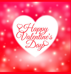 happy valentines day card with red background vector image