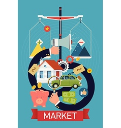 Marketplace Icon Poster vector image
