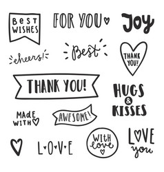 set of text labels vector image vector image