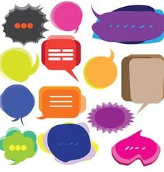 0108 Speech bubbles vector image
