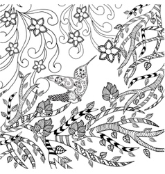 Bird coloring page vector image vector image