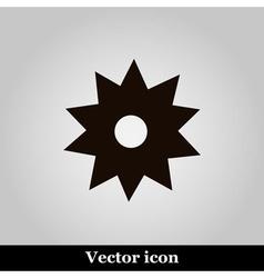 Black flower icon on grey background illus vector image vector image