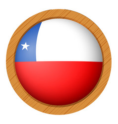 chile flag on round button vector image vector image