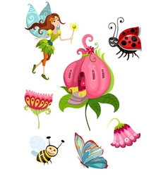 cute fairy set vector image