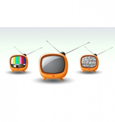 funky tv vector image