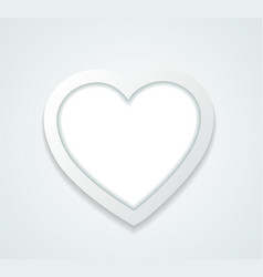 pattern frame in a paper heart vector image