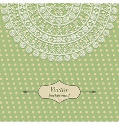 Vintage card design with floral pattern vector image