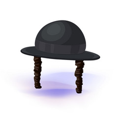 black cylinder hat orthodox jewish hat with vector image vector image