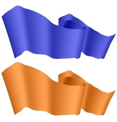Blue and Orange Ribbons Isolated vector image