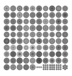 100 various mandala collections mandala art vector