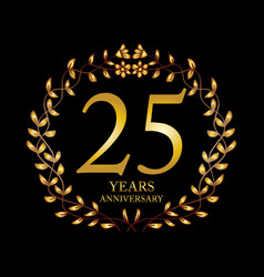 25 year anniversary celebration card vector image
