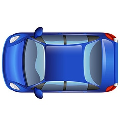 A blue car vector