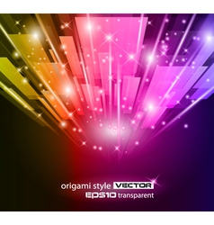 abstract glow vector image