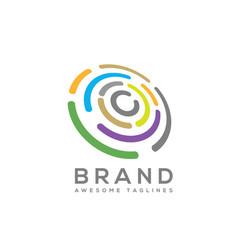 Abstract technology circles logo vector