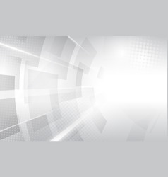 Abstract white and grey modern square shape vector