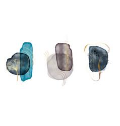 Acrylic ink blue circles creative frames vector
