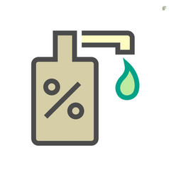 Alcohol gel and hand wash icon design 64x64 vector
