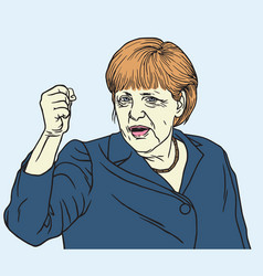 Angela merkel portrait vector