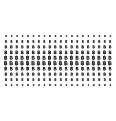 Baht shape halftone pattern vector