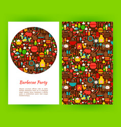 Barbecue party flyer template vector