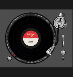 black vinyl record disc flat concept background vector image
