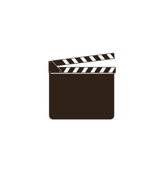 blank movie clapper clapboard black open vector image