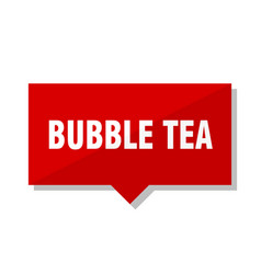 bubble tea red tag vector image