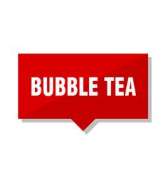 Bubble tea red tag vector