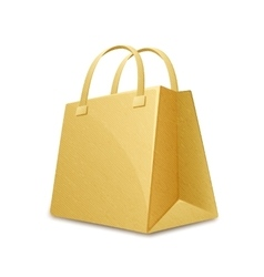 Cardboard paper bag vector
