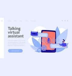 Chatbot voice controlled virtual assistantconcept vector