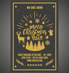 Christmas party happy new year poster vector