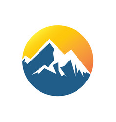 Circle mountain logo vector