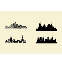 city skyline image vector image