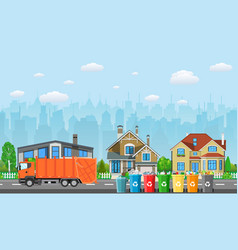 City waste recycling concept vector